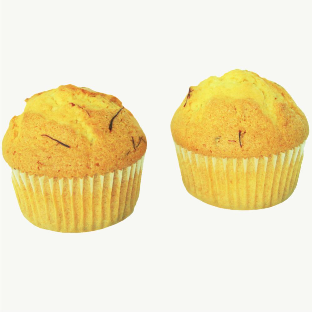 Safran muffins mit persischer Safran